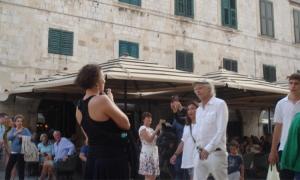 Bob Geldof enjoys a tour of Dubrovnik