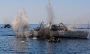 VIDEO - Sinking of Vis warship almost goes horribly wrong
