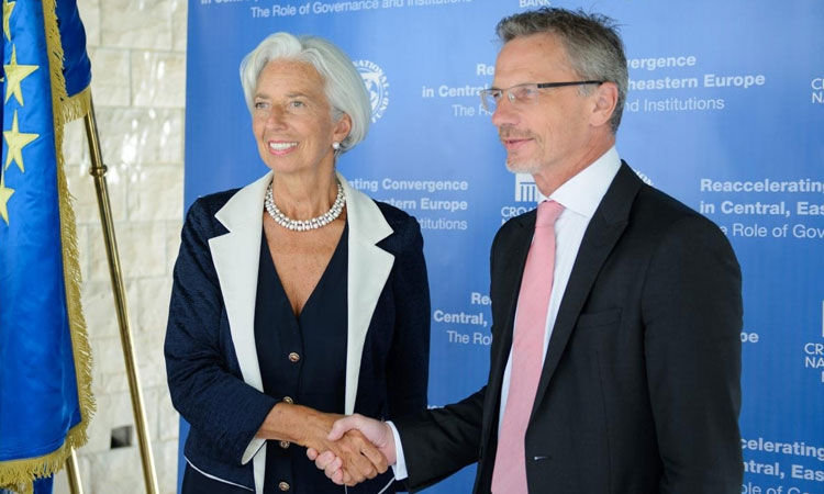 Christine Lagarde and Boris Vujčić in Dubrovnik