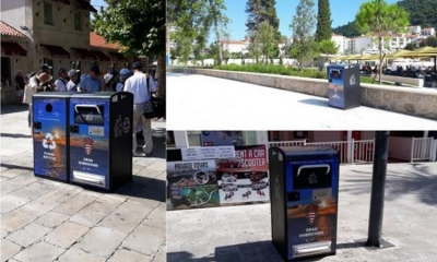 Big Belly waste disposal cleaning up Dubrovnik