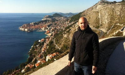 Ivan Vukovic above his beloved Dubrovnik