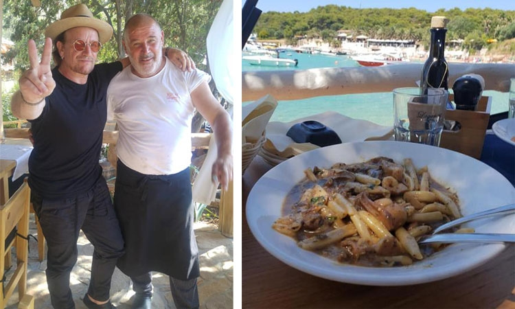 Bono back enjoying life and the cuisine in Croatia