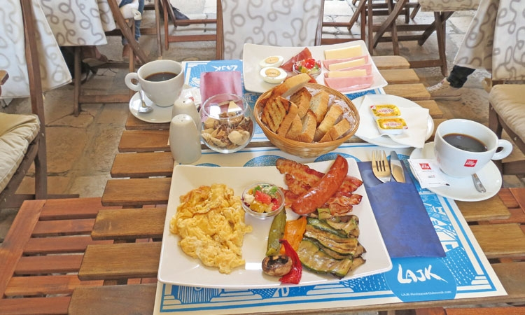 LAJk Restaurant offers a hearty breakfast