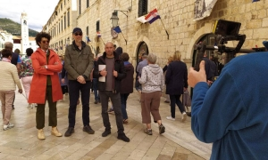 Travel Man films on the Stradun