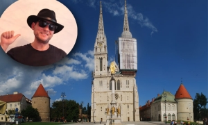 VIDEO – Base jumping off Zagreb Cathedral – brave or stupid (definitely illegal)