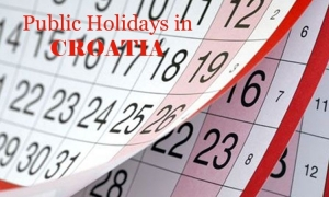 Public Holidays in Croatia in 2018