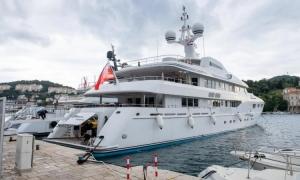 Bernie Ecclestone's luxury yacht Petara arrives to Dubrovnik