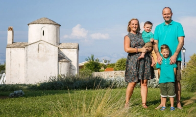 Sarah-Jane Begonja with her family exploring Croatia