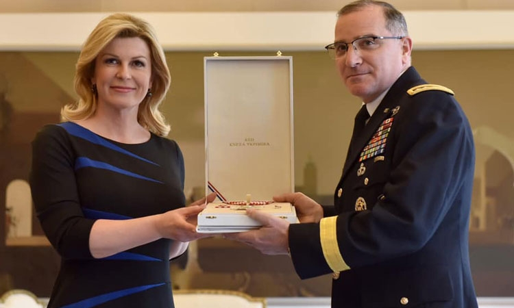 US General receives high Croatian decoration