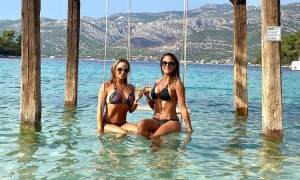 Eva LaRue on Korcula