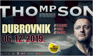 Day of Dubrovnik Defenders to be marked with free concert of Thompson