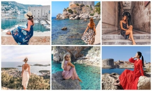 PHOTO – Dresses and Dubrovnik make the perfect combination