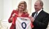 Croatian President presents Putin with iconic shirt