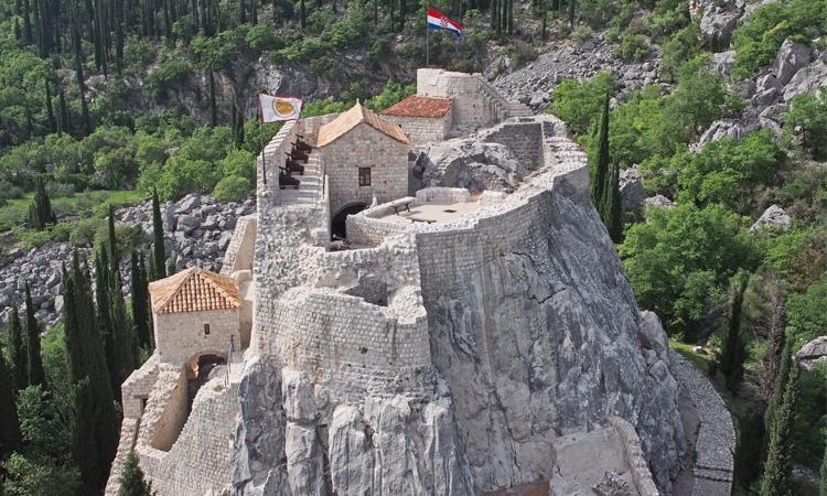 Fairy tale fortress in the hills of Konavle