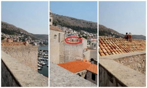 Photo – Tourists rest on the rooftop in Dubrovnik