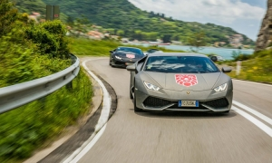 Luxury sports cars on Dubrovnik's roads