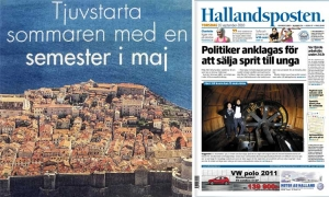 Dubrovnik in Swedish newspaper