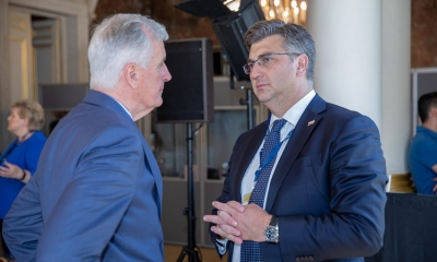 Croatian Prime Minister talks Brexit with Barnier in Zagreb