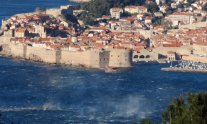 Gale force winds whistle over the Dubrovnik County