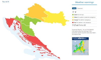 RED ALARM: Very dangerous weather in Dubrovnik
