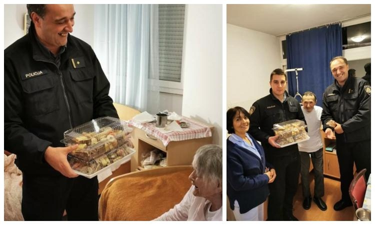Dubrovnik traffic police officers visit the Retirement Home for Christmas