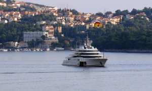 Eclipse at anchor in front of Cavtat
