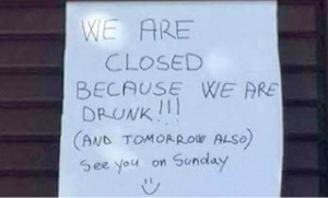 Bar closed in Korcula because staff are drunk