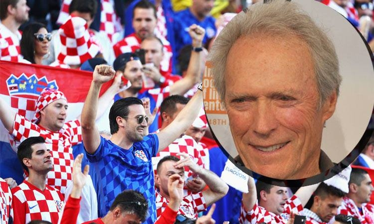 Clint Eastwood asks for Croatian jersey
