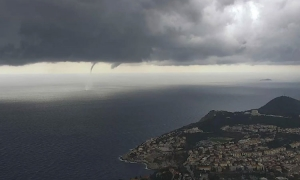 Weird weather continues as a twister spins past Dubrovnik