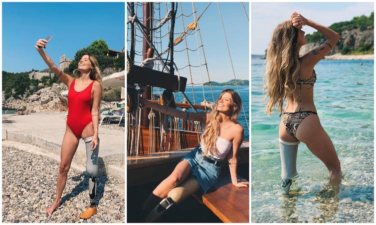 BEAUTIFUL PAOLA ANTONINI: Inspiring fitness model with leg prosthesis shines in Dubrovnik