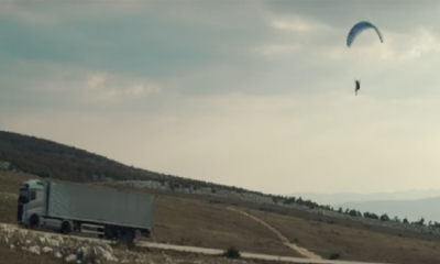 VIDEO - A stunt to die for filmed in Croatia: flying passenger on Volvo truck