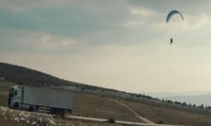 VIDEO - A stunt to die for filmed in Croatia: flying passenger on Volvo truck