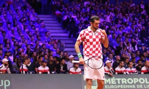 Croatia on brink on Davis Cup win after stunning first day