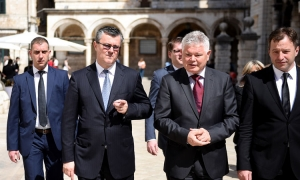 Prime Minister in Dubrovnik with Mayor