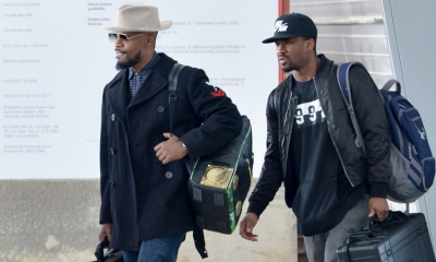Jamie Foxx lands in Dubrovnik