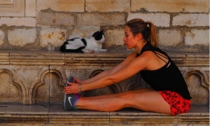 TRAVEL AND KEEP FIT The greatest moment: early morning jogging through Dubrovnik