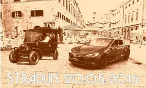 Modern electric vehicles to park on Stradun