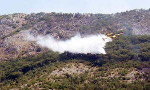 Forest fire on Croatian border