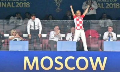 Kolinda at the World Cup Final