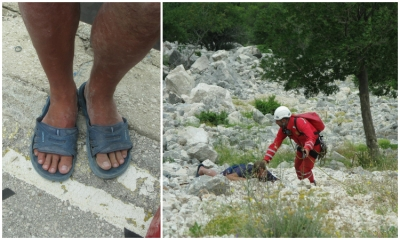 Polish tourist rescued at Biokovo after climbing outside marked trails in inappropriate shoes
