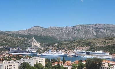 Around 9000 cruise ship passengers in Dubrovnik today