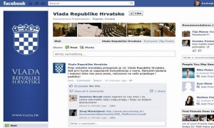 Croatian government Facebook account third most popular