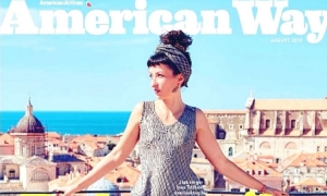 Dubrovnik on front cover of American Airlines in-flight magazine