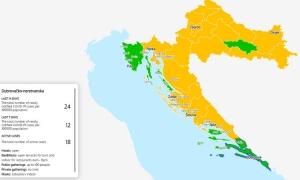 Dubrovnik-Neretva county ranked green on Croatian Covid map