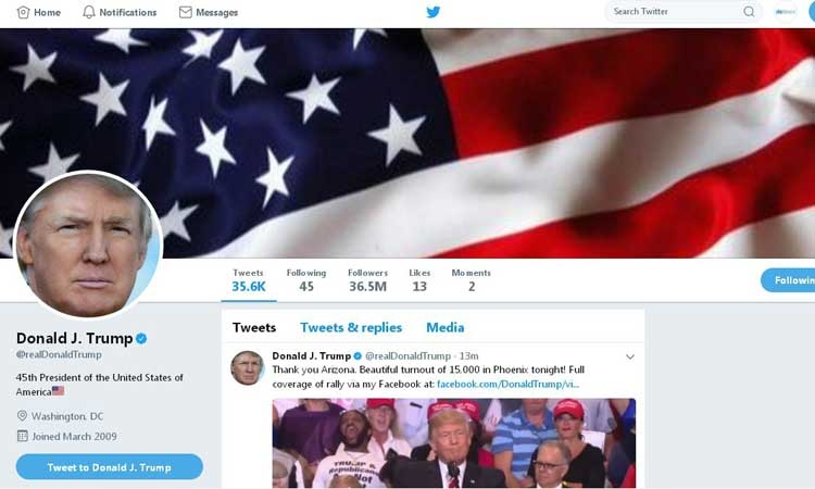 President Trump is a huge Twitter fan