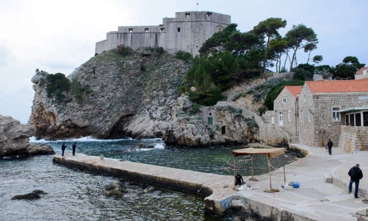 Game of Thrones set building in Dubrovnik