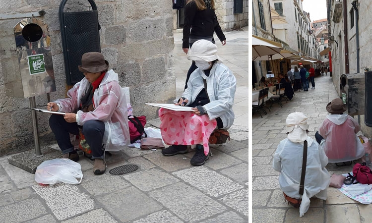 Creating Dubrovnik art