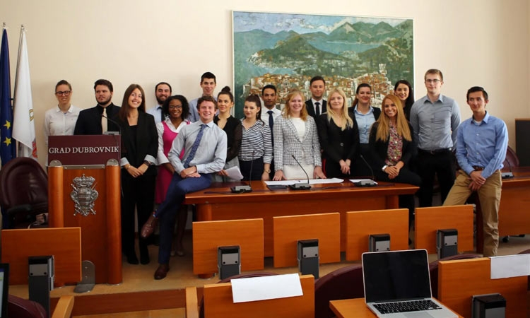 Libertas students in Dubrovnik City Council