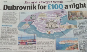 Dubrovnik features in weekend edition of The Daily Mail