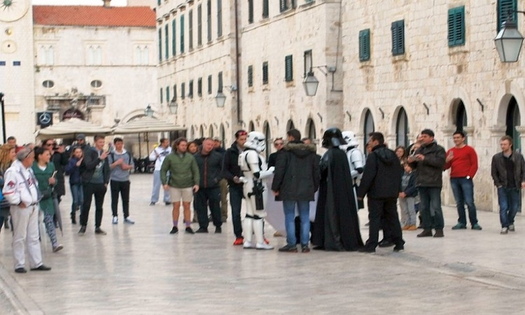 Darth Vader with his Strom Troopers in Dubrovnik